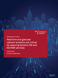 Real-time and granular network analytics are critical for assuring dynamic 5G and SD-WAN services