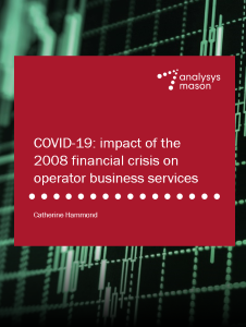 COVID-19: impact of the 2008 financial crisis on operator business services