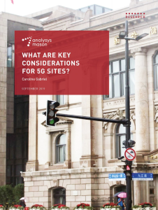 What are key considerations for 5G sites?