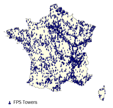 Site map of FPS Towers
