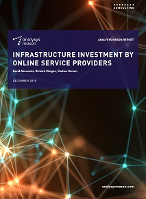 Infrastructure Investment by Online Service Providers