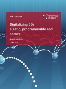 Digitalizing 5G: elastic, programmable and secure white paper front cover